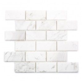 Decorator Tiles Mosaic Decorator Calacatta Brick Bevelled Edge Polished Wall Tile