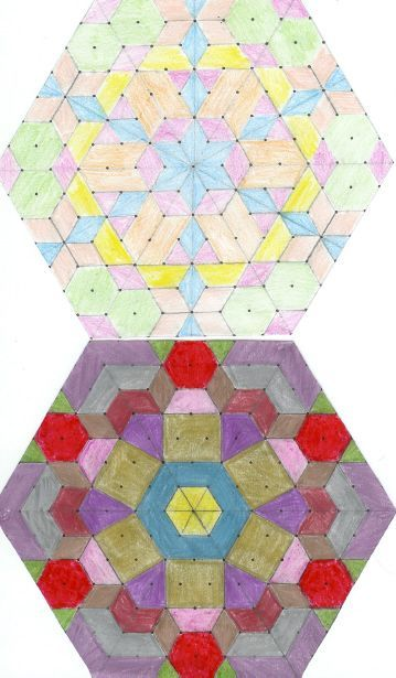 Isometric Dot Paper Used For Kaleidoscopic Drawings Pbl