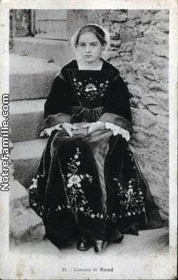 Cartes Postales Photos Costume 56150 BAUD morbihan (56)   Breizh