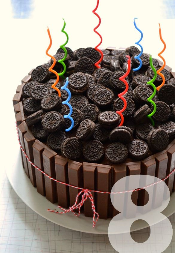 Gatherings A Backyard Birthday With A Kitkat Oreo Cake Oreo