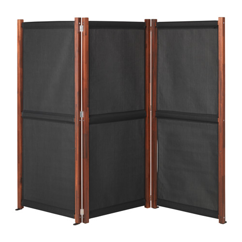 Verwonderlijk IKEA SLATTO Black, Brown Stained Privacy screen, outdoor | For the OO-26