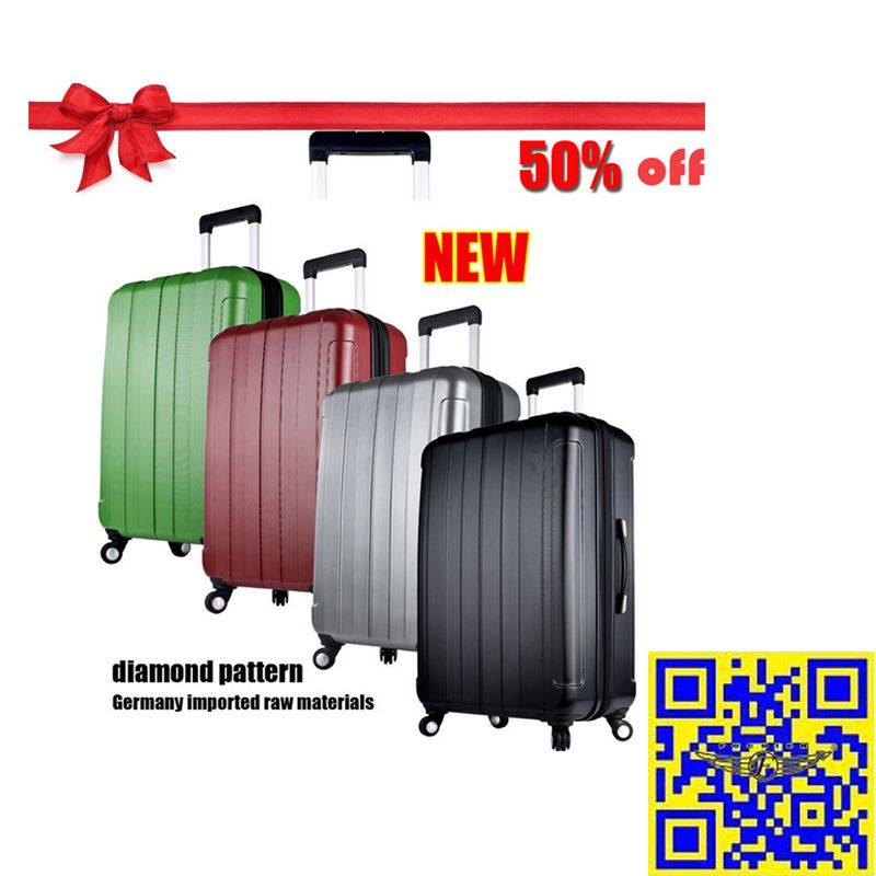The 2015 largest discount! 12.16—12.31 Christmas sales! All luggage suitcases in E-bay American site with 50% off! Don't miss it!! http://stores.ebay.com/shxq2015 http://www.ebay.com/itm/Sale-Large-Suitcase-20-24-28-inch-Hard-Shell-Trolley-Luggage-ABS-PC-4-Colors-/252186556170?