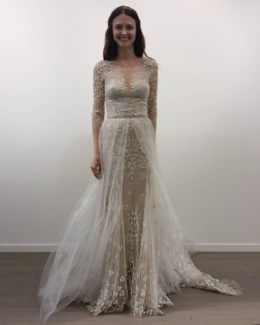 Trendy New York Bridal Fashion Week Show fall new collection wedding dress designer bridal gown catwalk