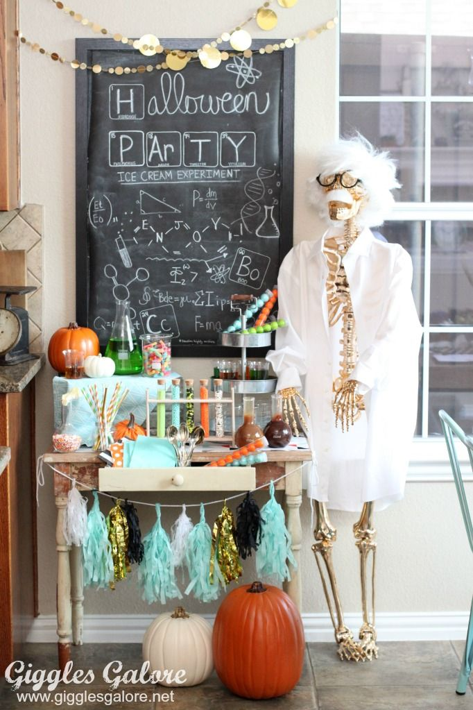 mad scientist ice cream party giggles galore let me entertain - mad scientist halloween decorations