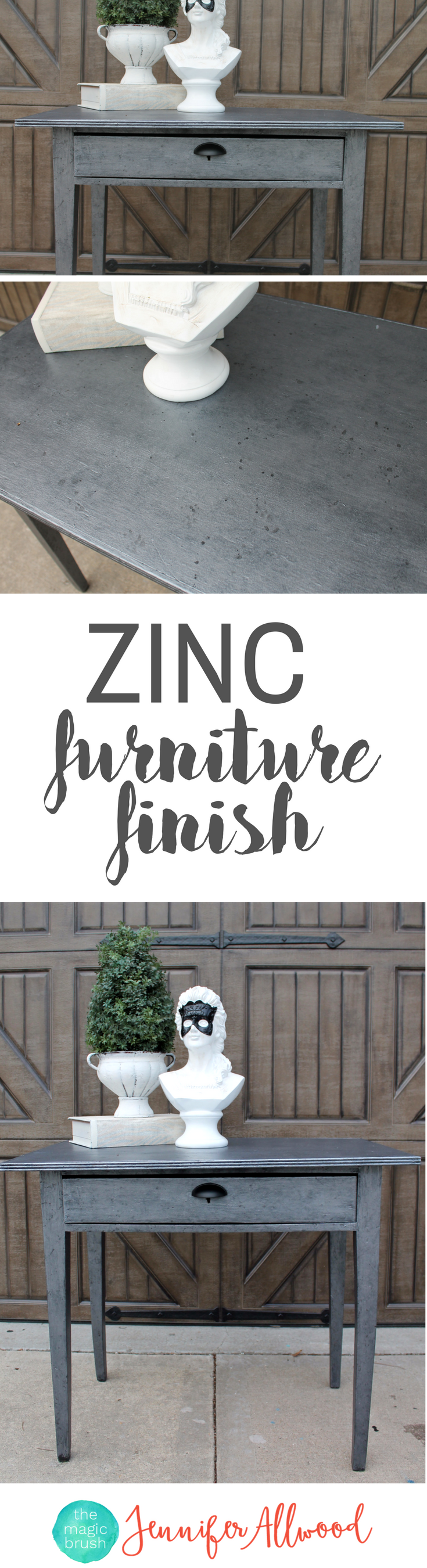 How To Paint A Zinc Furniture Finish | Silver Painted Furniture Ideas | DIY Furniture  Finish