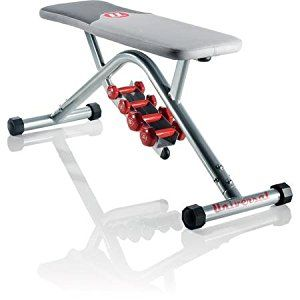 Universal UB200 Fitness Gear Pro Utility Weight Bench With Dumbbells