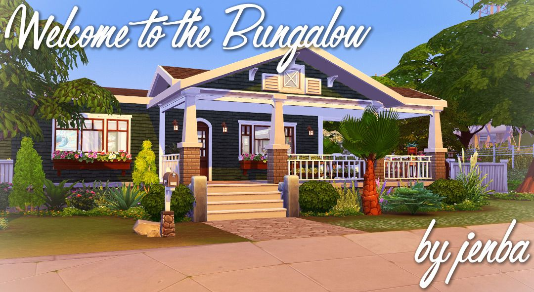 Welcome To The Bungalowi Ve Built A Ton Of Bungalows In This Game Already But As Soon As I Saw Those New Columns In Get Sims 4 House Design Sims House
