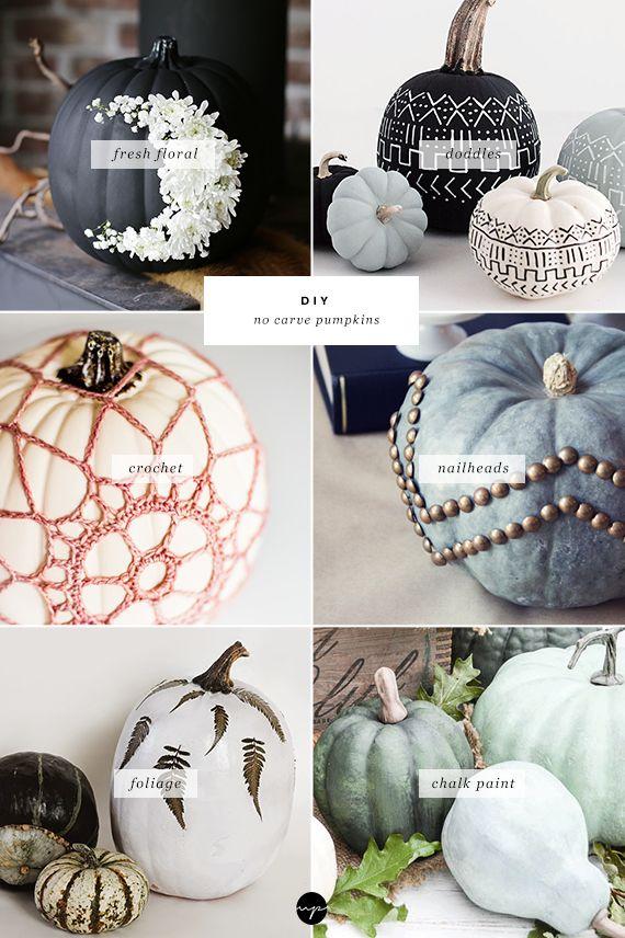 DIY No carve pumpkin decorating Holidays, Pumpkin decorating and - halloween decorations ideas diy
