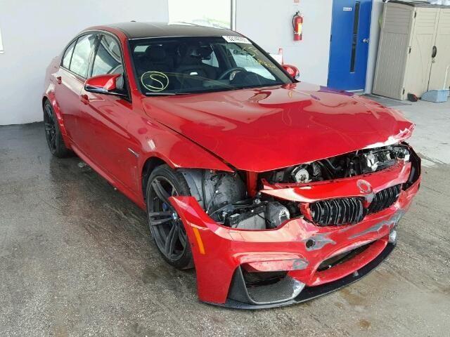 Salvage 2016 Bmw M3 Sedan For Sale Salvage Title Bmw M3 Sedan Salvage Cars Car Auctions