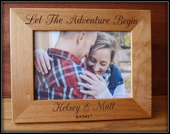 Let the adventure begin picture frame#personalizedgift #monogram ...