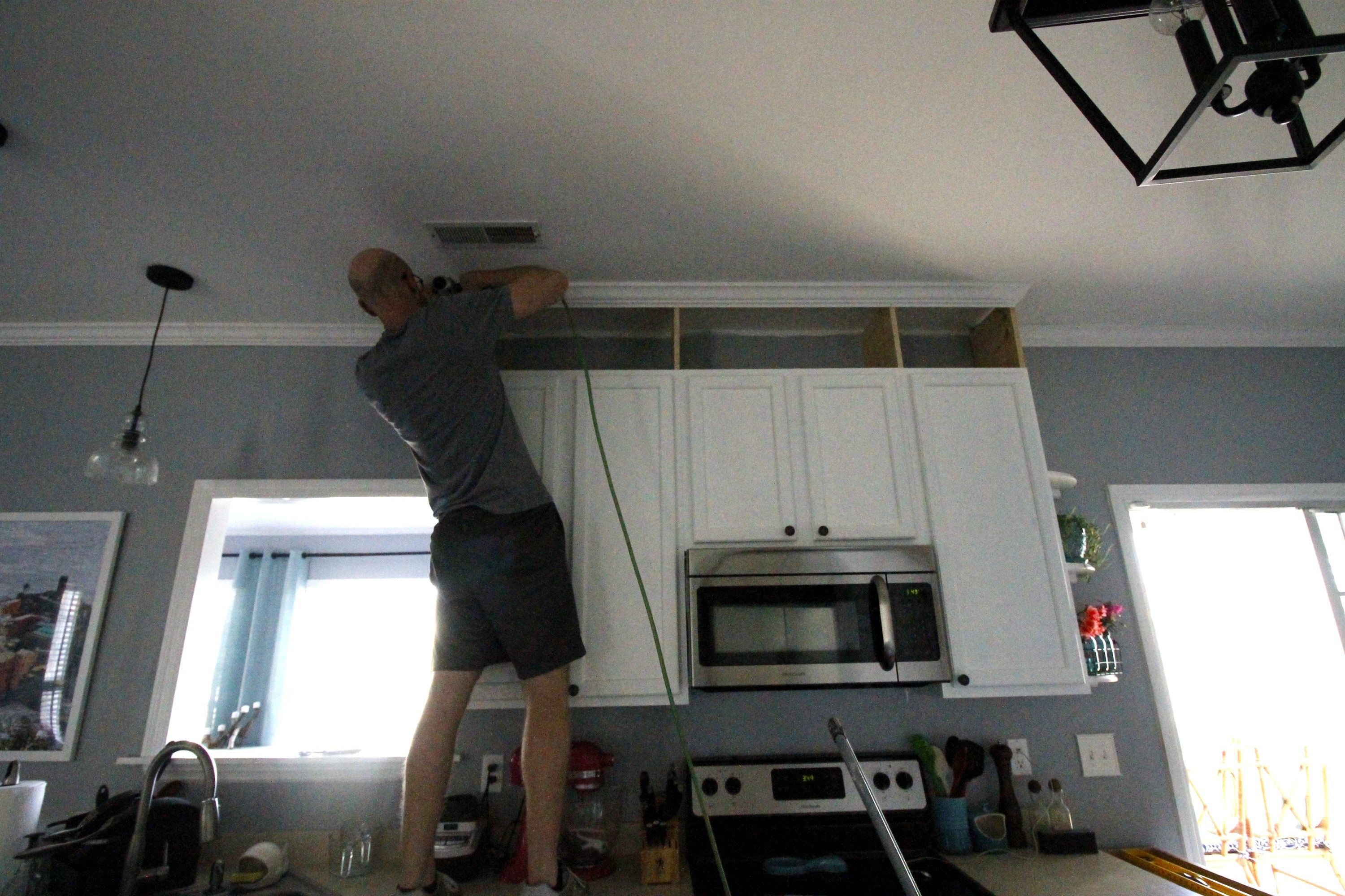 How To Extend Kitchen Cabinets To The Ceiling Kitchen Cabinets Height Upper Kitchen Cabinets Cheap Kitchen Remodel