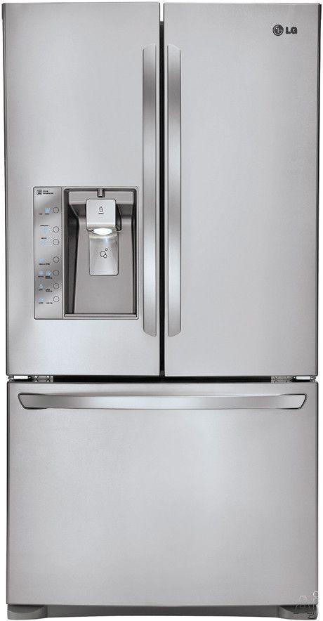 Lg Lfx25991st 24 6 Cu Ft Counter Depth French Door Refrigerator
