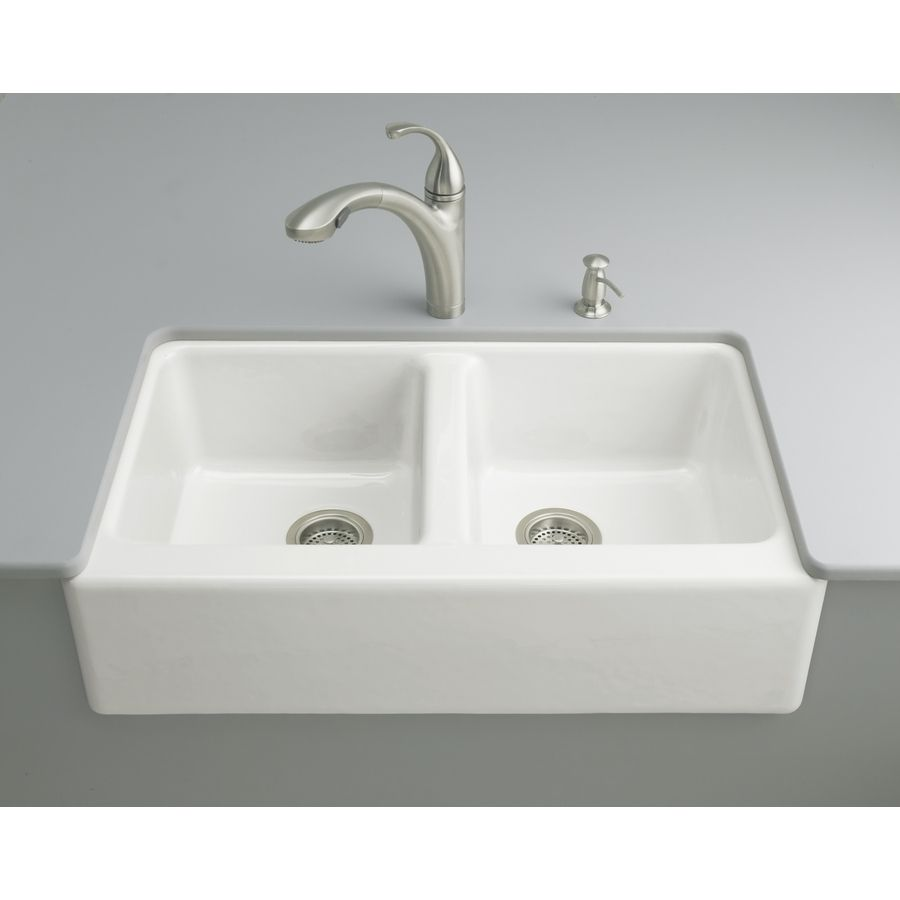 Enameled Cast Iron Apron Front Kitchen Sink | http://yonkou-tei ...