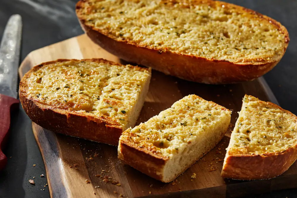 This Golden Buttery Triple Garlic Bread Is The Dinner Side That Deserves To Be A Star Homemade Garlic Bread Recipe Homemade Garlic Bread Garlic Bread