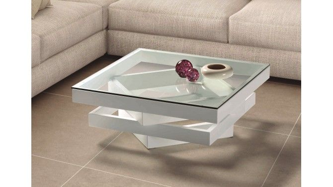 Table Basse Moderne En Verre Hana Table Basse Rangement Table Basse Carree Bois Table Basse