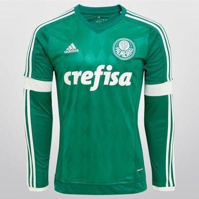 Camisa Adidas Palmeiras I 2015 s nº M L - Verde  767b75b86b3c9