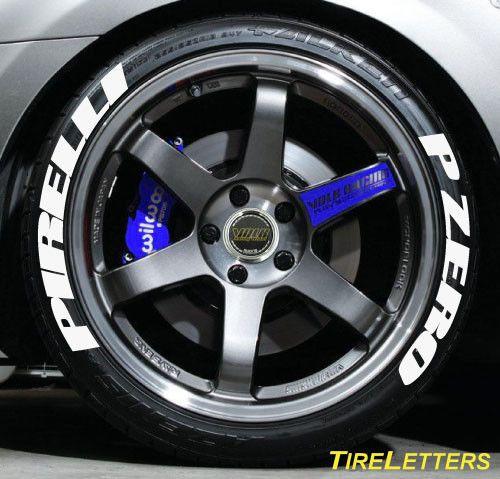 TIRE LETTERS - RAISED WHITE RUBBER LETTERING - Pirelli P Zero (SWOOSH DESIGN) | other | Pirelli ...