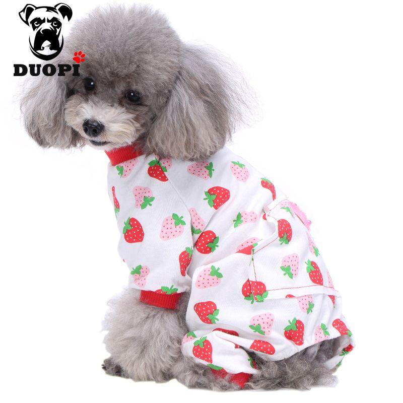 Soft Cotton Adorable Print Dog Pajamas Shirt Pet Clothes Free
