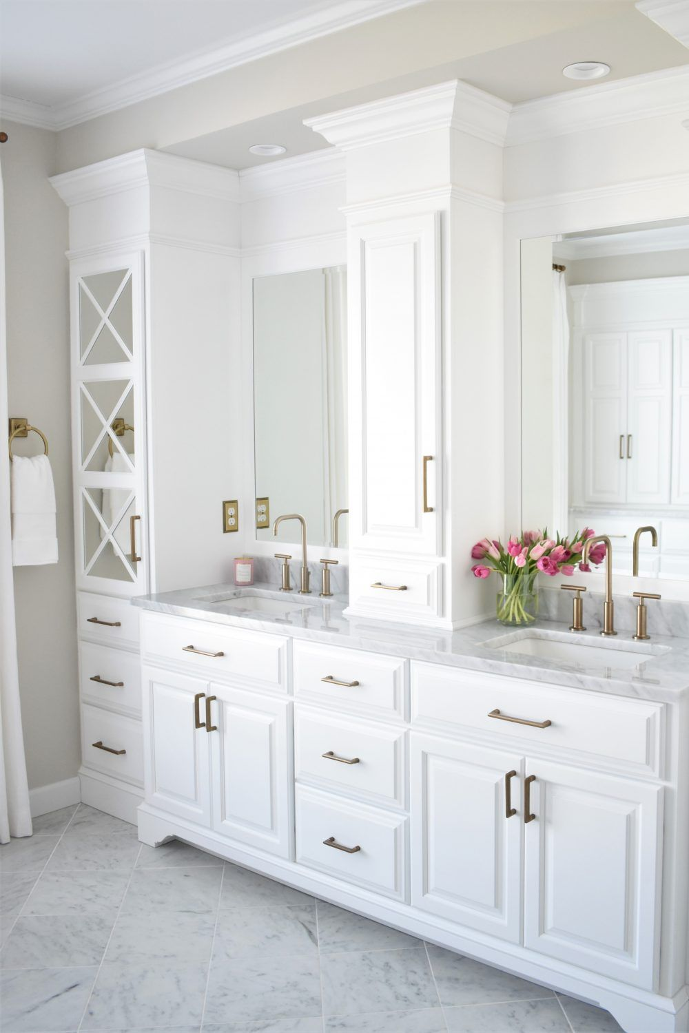 Double sink vanity with lots of storage | Kate ABT Design ...