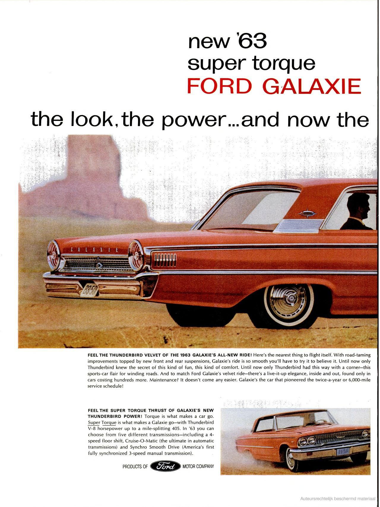 The 63 Ford Galaxie Ford Galaxie Automobile Advertising Car Advertising