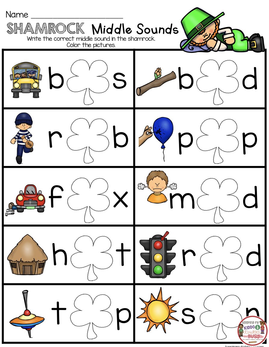 Cvc Words Middle Sounds Free Printables For The Month Of March In Kindergarten No Prep Math In 2020 Phonics Kindergarten March Kindergarten Kindergarten Activities [ 1150 x 894 Pixel ]