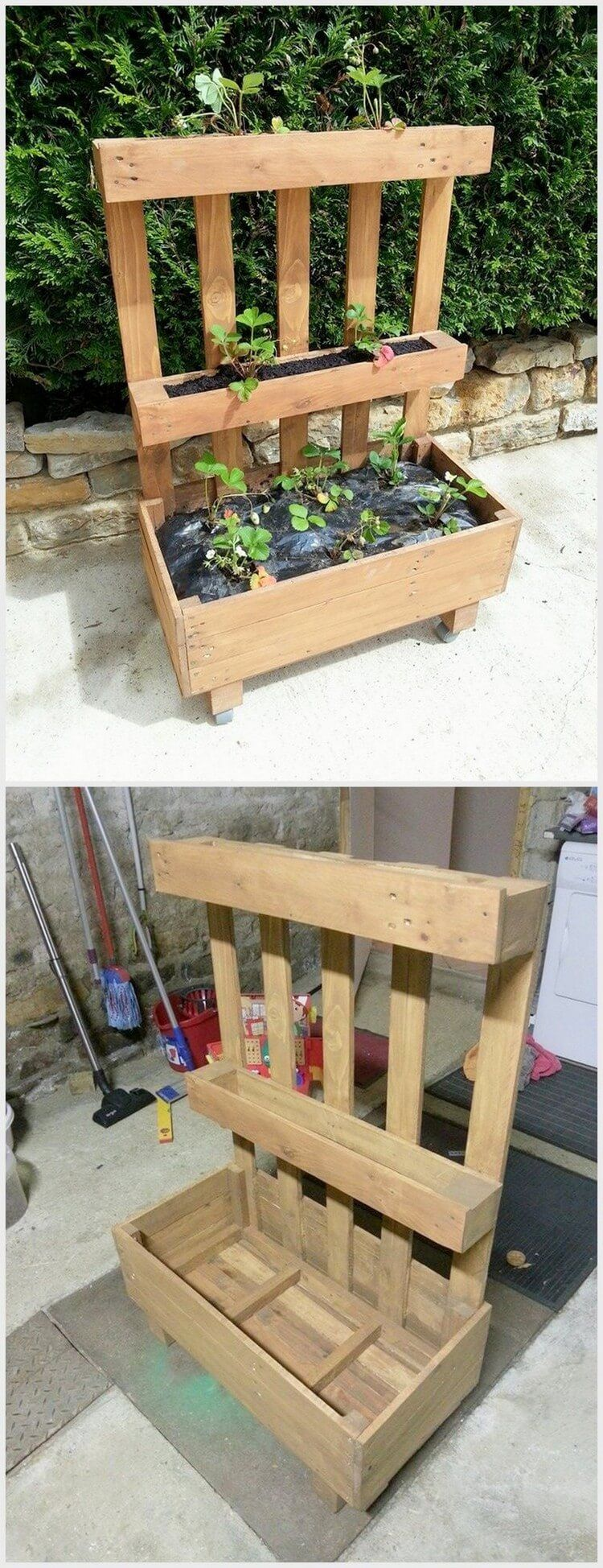 25 diy recycled wooden pallet projects try out at home on easy diy woodworking projects to decor your home kinds of wooden planters id=55135