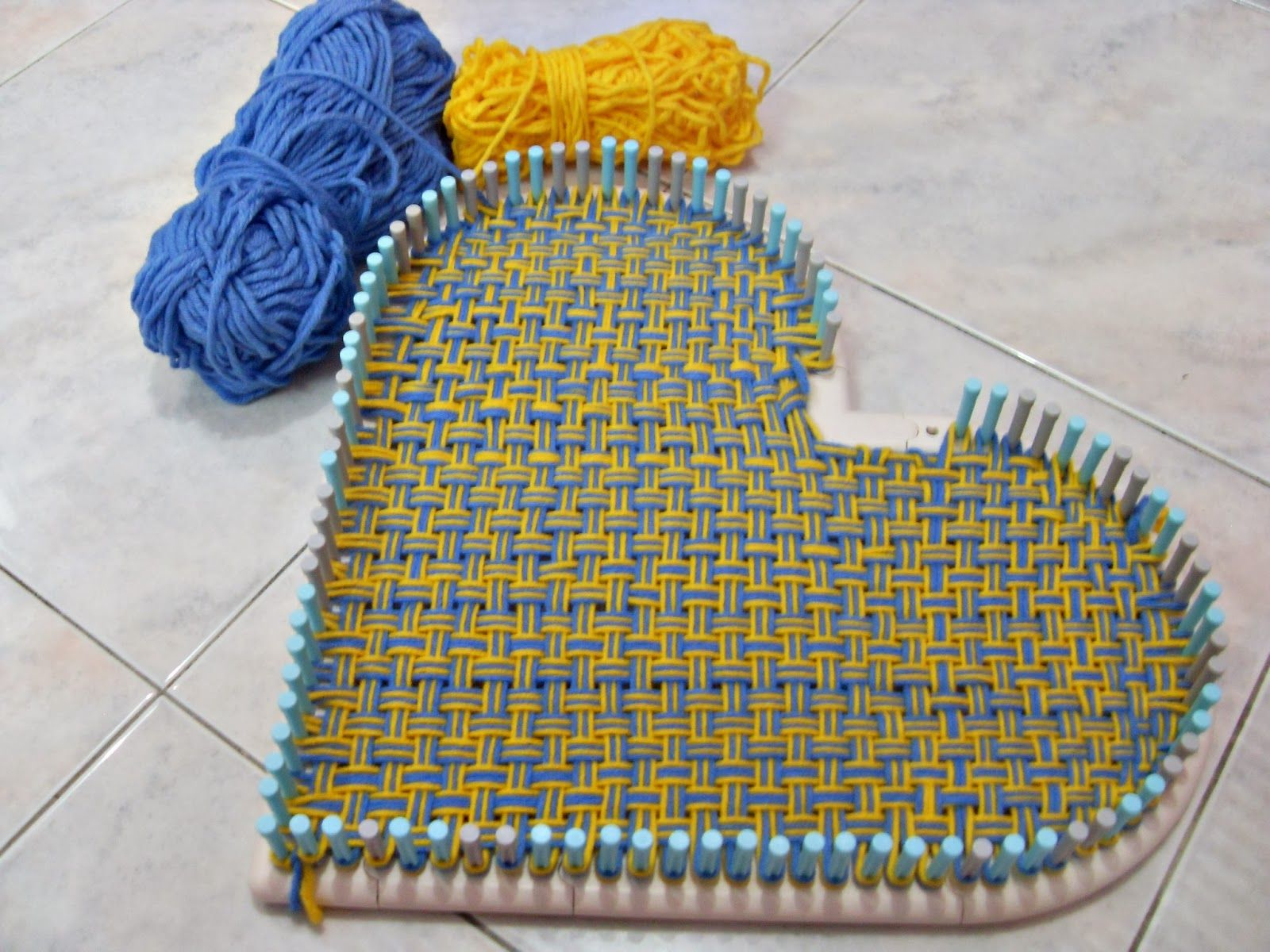 Knitting Loom Uses : Crochet is fun weaving a heart using martha stewart loom