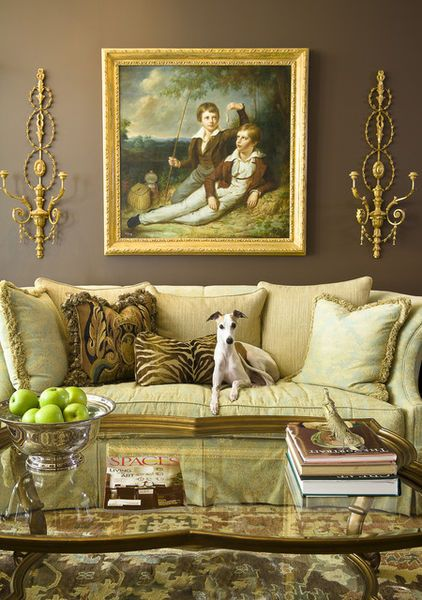 Add an element of whimsy to a traditional living rooms