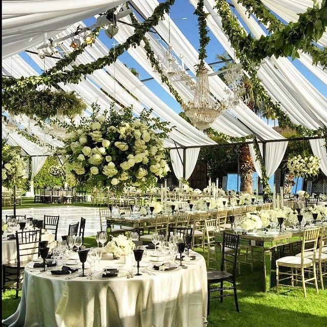 How I would love my wedding A tented affair with an open roof lots