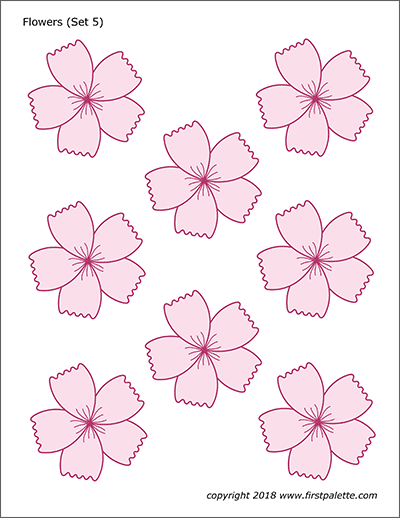 Flowers Free Printable Templates Coloring Pages Firstpalette Com Flower Templates Printable Flower Template Flower Printable