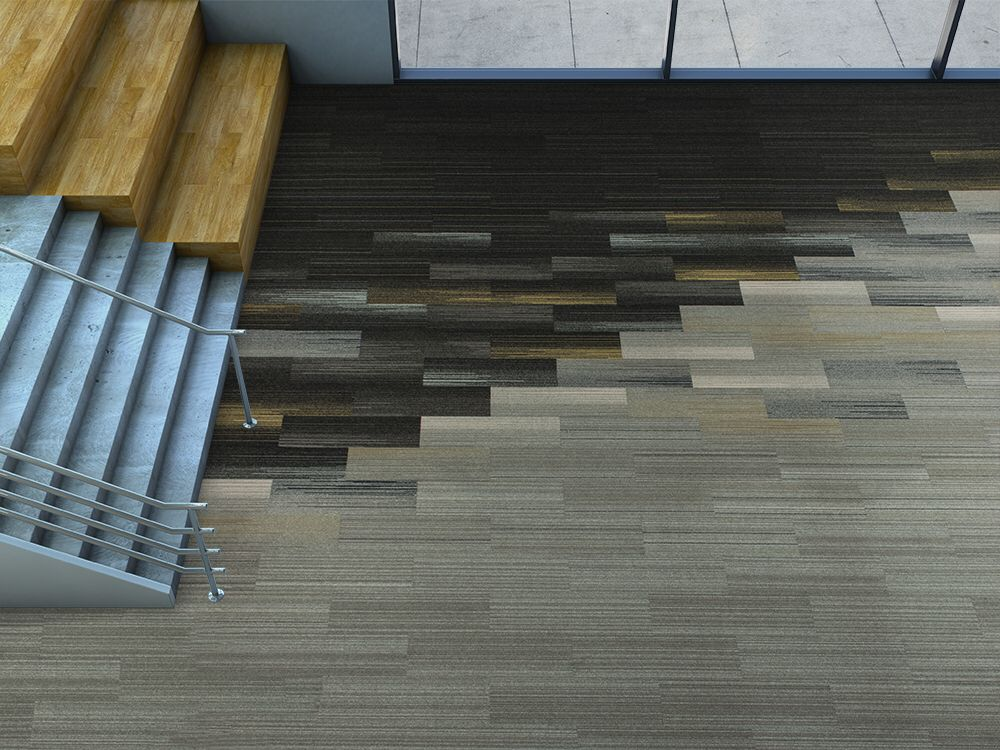 Silver Linings Colorful Skinny Plank Carpet Tile