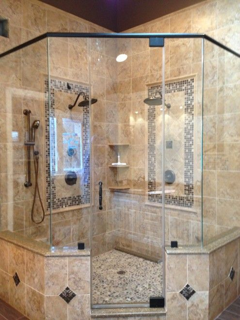 Corner Frameless Shower Enclosures Neo Angle Corner Shower Door Marlboro Nj Shower Remodel Bathroom Remodel Shower Master Bathroom Shower