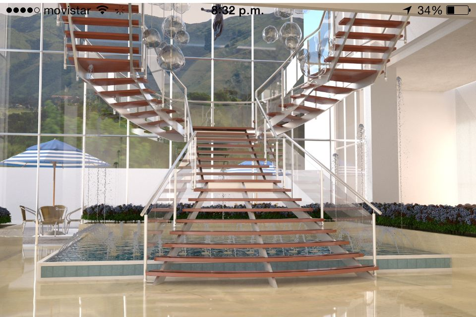 Escaleras lobby a mezzanina