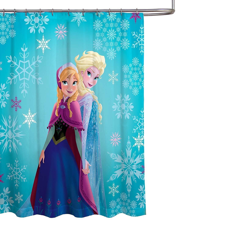 Kids Childrens Fabric Disney Nickelodeon Marvel DC Comics Shower Curtain