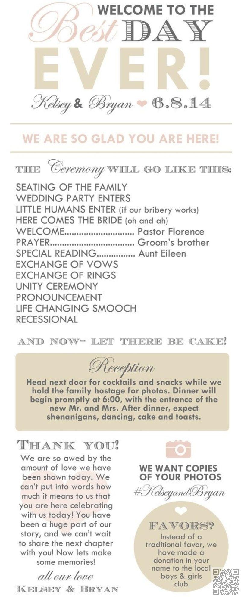 7 Example Wedding Program