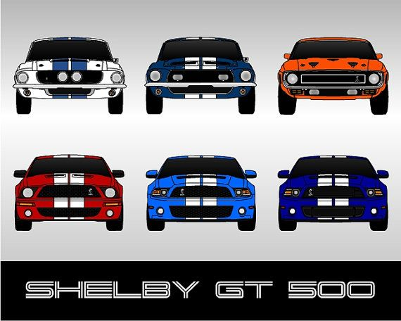 Shelby Gt500 Ford Mustang Poster Print Wall Art Of The History Etsy Shelby Gt500 Mustang Shelby