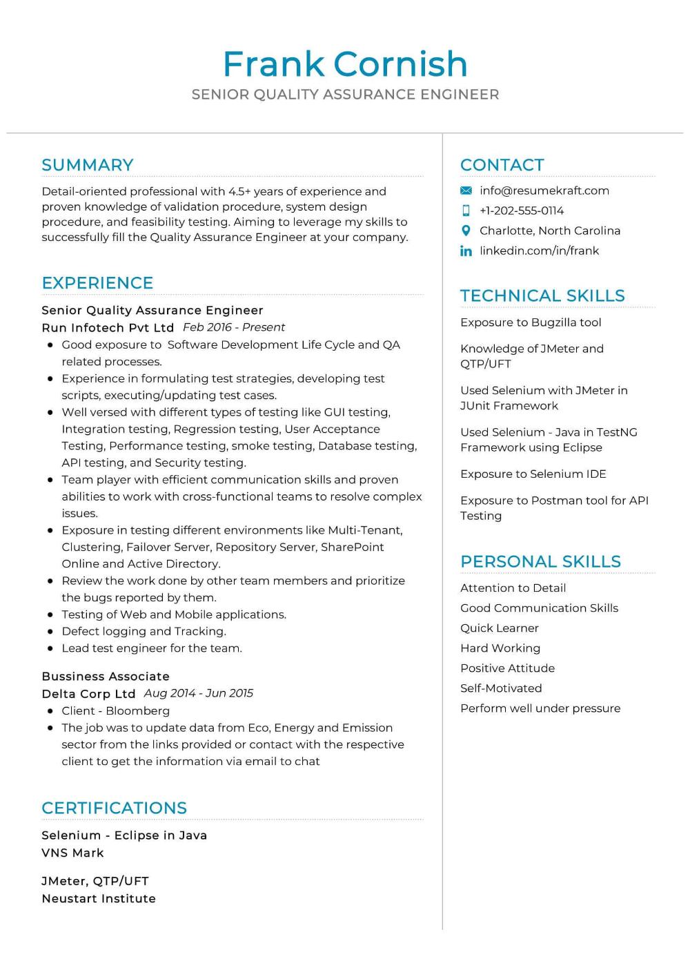 100 Professional Resume Samples For 2020 Resumekraft Teaching Resume Professional Resume Samples Resume