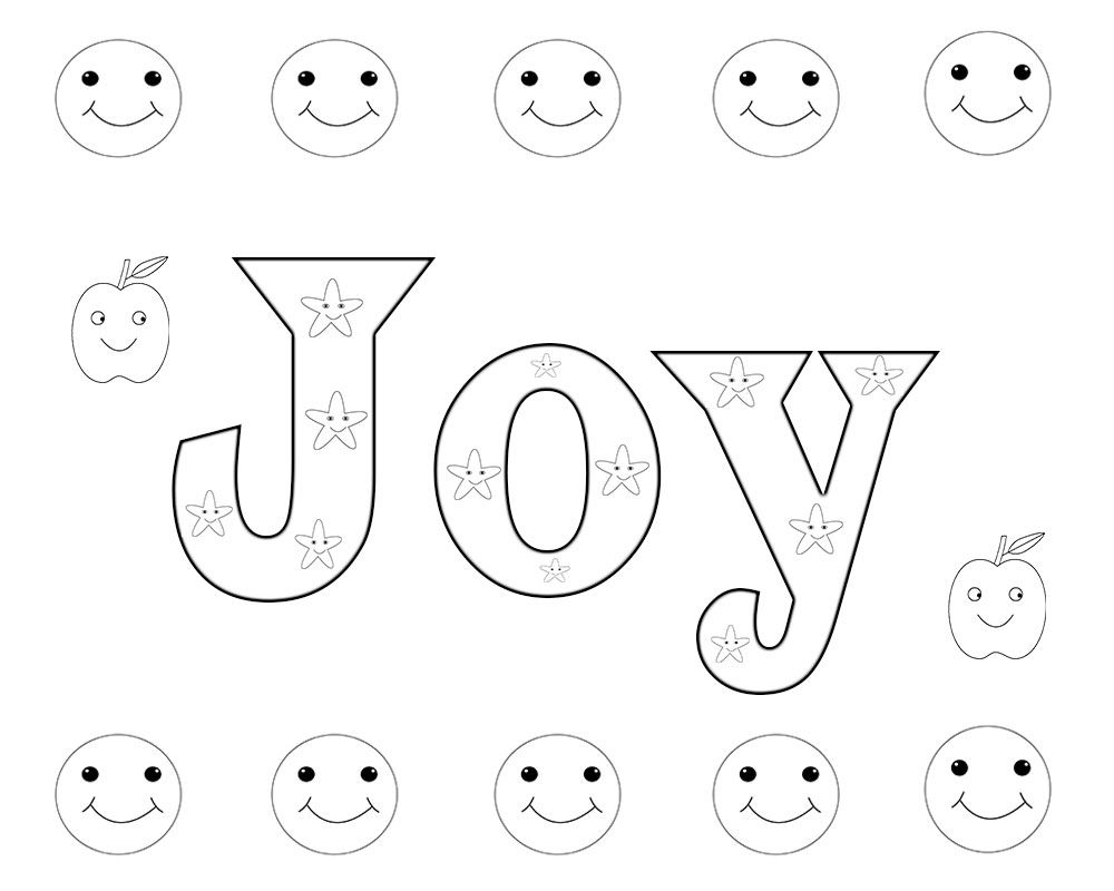 Joy Coloring Pages Free To Print and Download Free