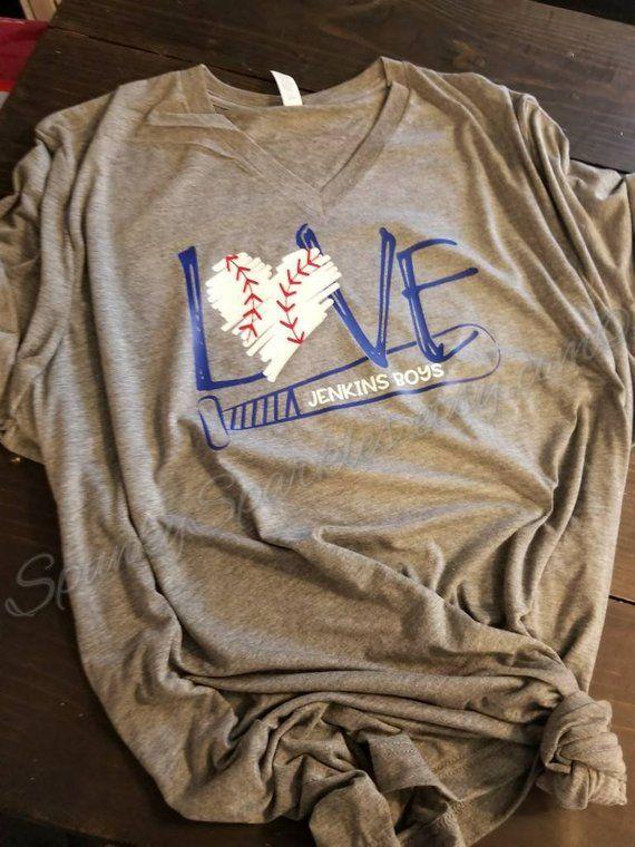 Photo of Love Baseball Shirt, Personalized Baseball Shirt, Baseball Mom Shirts, Game Day …