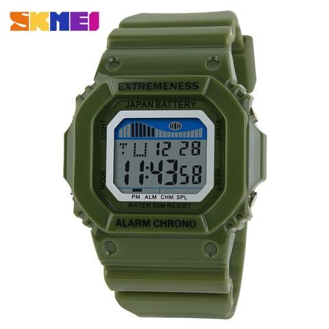 d0a73f48aed Skmei Extremeness Digital Military Watch. Skull