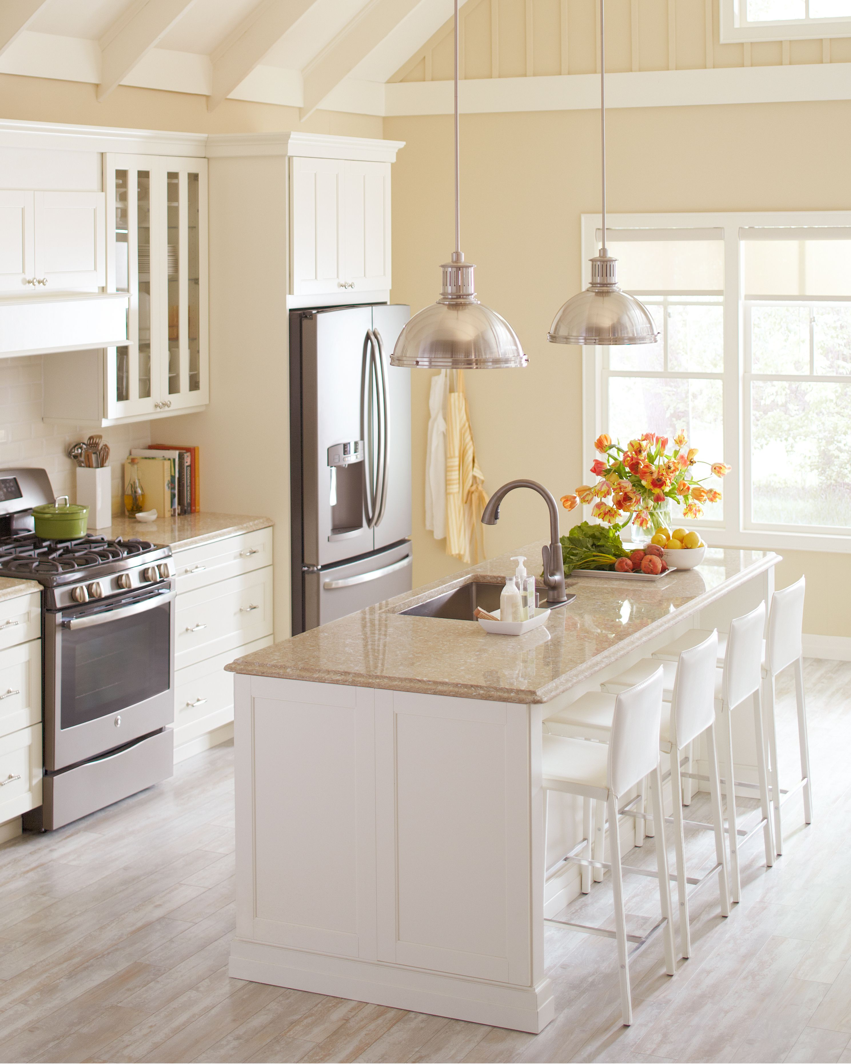Martha S Top Kitchen Organizing Tips In 2020 Beige Kitchen Quartz Kitchen Countertops Corian Countertops