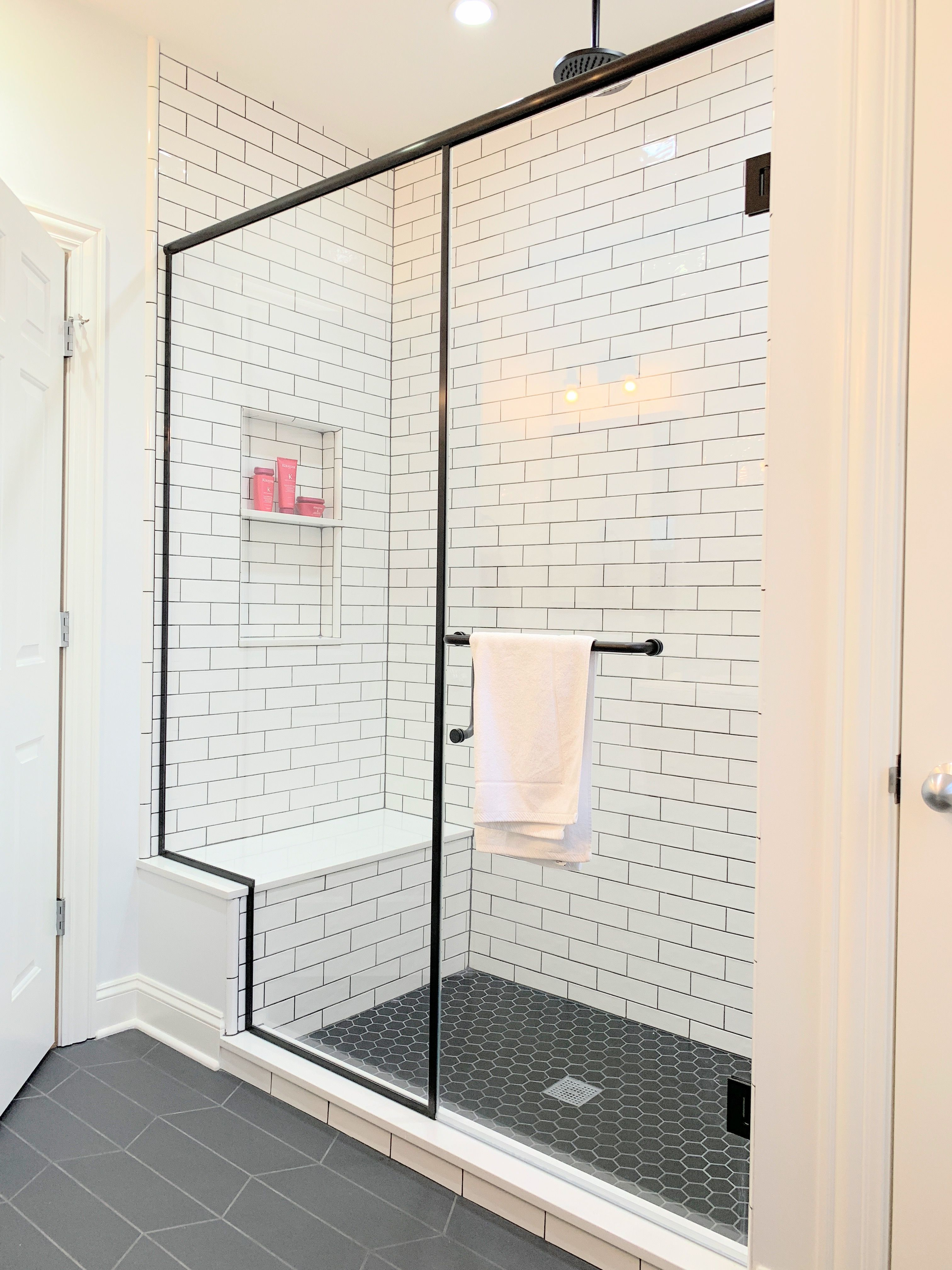 Custom Glass Shower Doors And Shower Enclosures With Matte Black
