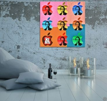 Tableau pop art de Steve Jobs disponible chez http://artwall-and-co.com