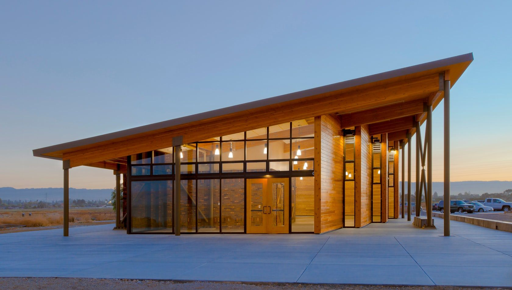 Cooley Landing Education Center California S First Clt Roof System Panels And Furniture Asia Vloeren