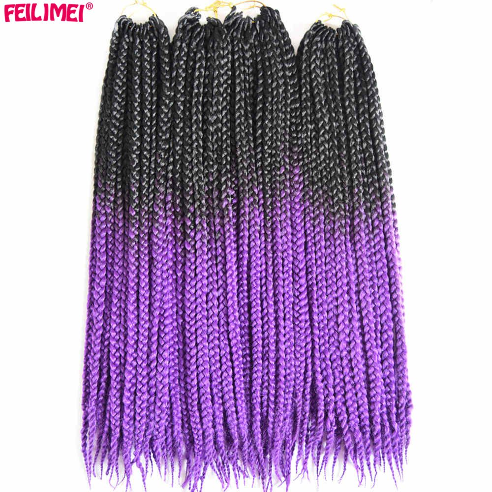 Feilimei freetress braiding hair extensions synthetic ombre black
