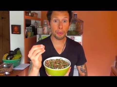 Sprouted quinoa tabouli salad vegan raw food recipe youtube a sprouted quinoa tabouli salad vegan raw food recipe youtube forumfinder Choice Image