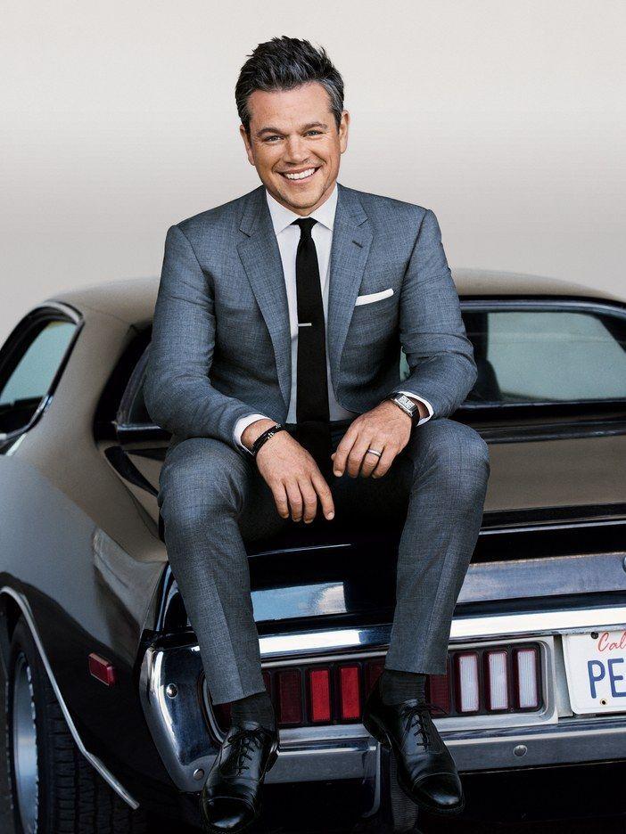 Matt Damon vous montre comment porter un costume gris   – Gentleman's club