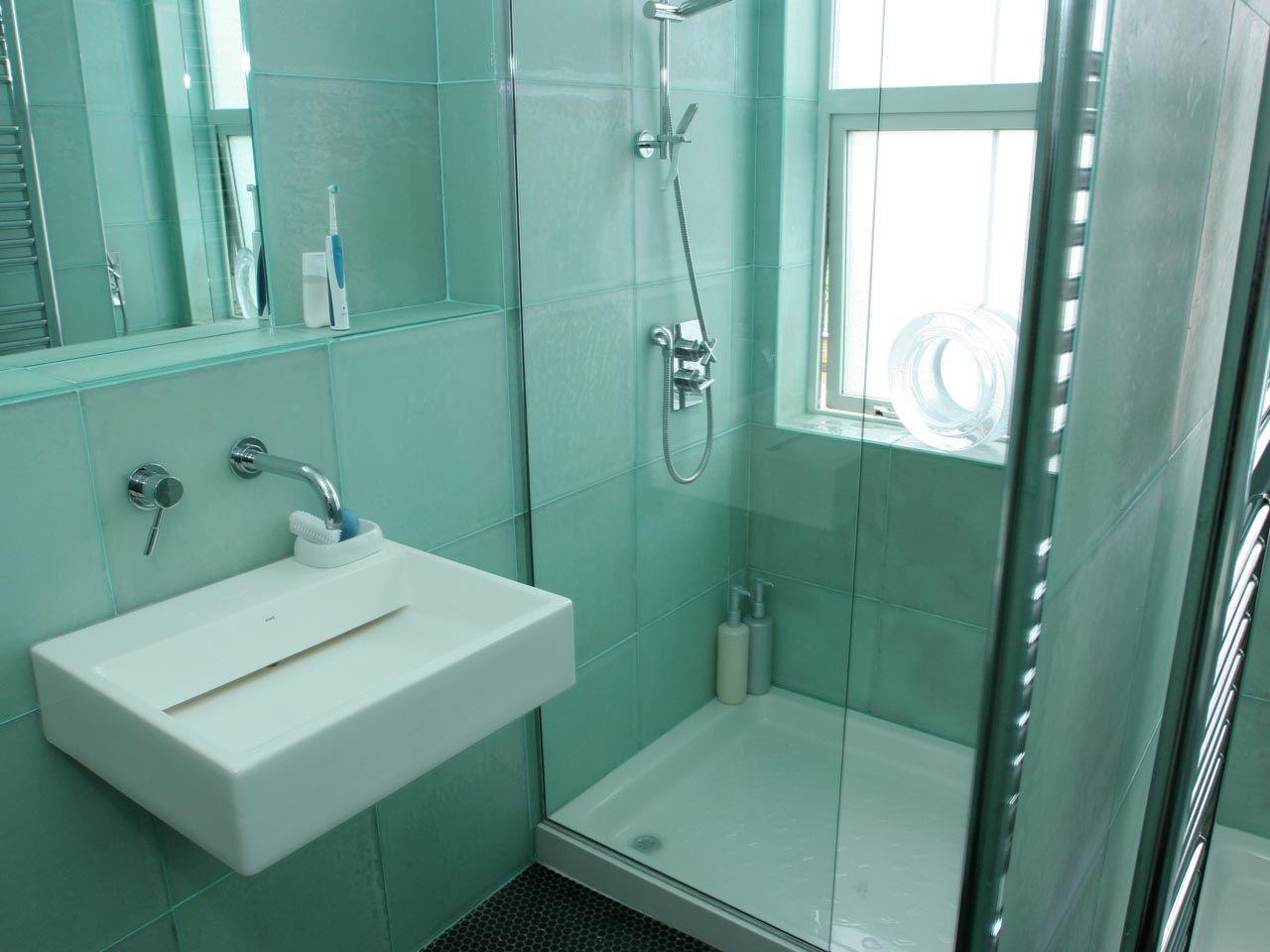 Eryka Isaak - Iridescent Bathroom Tiles | My new place!! | Pinterest ...
