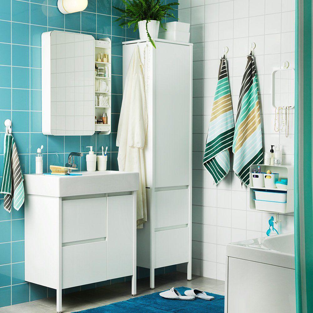 Petites Salles De Bains Ikea 6 Inspirations Qui Ont Tout Bon Sticker Salle De Bain Meuble Rangement Salle De Bain Salle De Bain Ikea