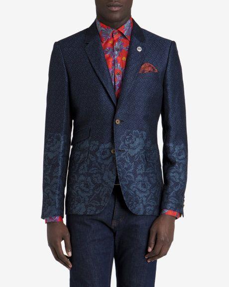 9978a1088b8d Floral jacquard blazer - Blue